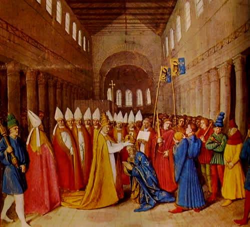 Carlo Magno Incoronato da Papa Leone III Boschi Sacri Etruscan Corner