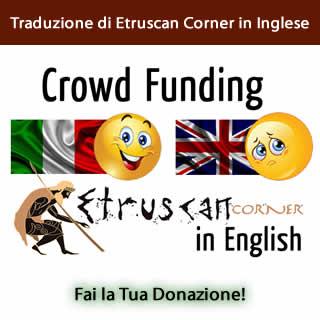 Crowd Funding Etruscan Corner in Inglese